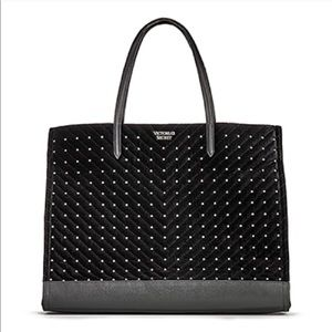 New Victoria's Secret black studded tote bag gift